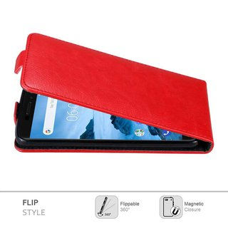Cadorabo Case works with Nokia 6.1 2018 in APPLE RED -...