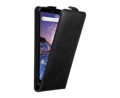 Cadorabo Case works with Nokia 7 PLUS in NIGHT BLACK -...