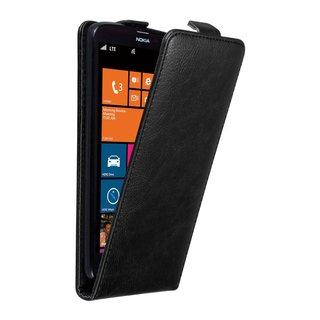 Cadorabo Case works with Nokia Lumia 1320 in NIGHT BLACK...