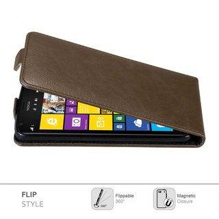 Cadorabo Case works with Nokia Lumia 1520 in COFFEE BROWN...