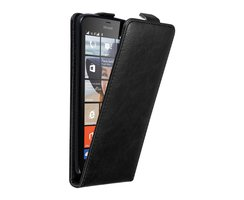 Cadorabo Case works with Nokia Lumia 640 in NIGHT BLACK...