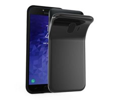 Cadorabo Case works with Samsung Galaxy J4 2018 in BLACK...