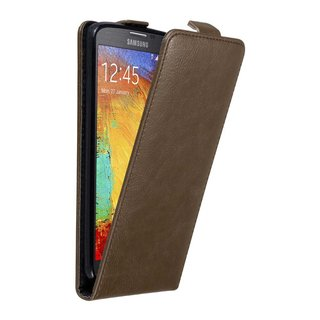 official photos 81486 974a0 Cadorabo Case works with Samsung Galaxy NOTE 3 NEO in COFFEE BROWN - Flip  Style Case with Magnetic Closure - Wallet Etui Cover Pouch PU Leather Flip