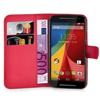 Cadorabo Book Case works with Motorola MOTO G2 in CANDY...