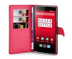 Cadorabo Book Case works with OnePlus ONE in CANDY APPLE...