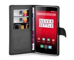 Cadorabo Book Case works with OnePlus ONE in OXID BLACK...