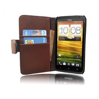 Cadorabo Book Case works with HTC ONE X / X+ in SADDLE...