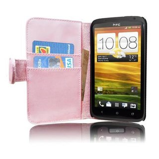 Cadorabo Book Case works with HTC ONE X / X+ in DUSKY...