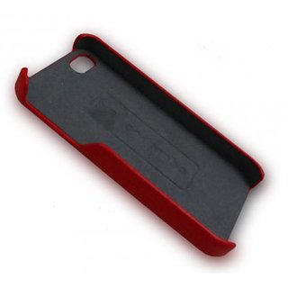 Cadorabo ! Iphone 5 / 5G / 5S Leder Hard Case rot