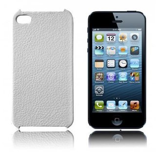 Cadorabo ! Iphone 5 / 5G / 5S Leder Hard Case weiß