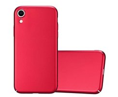 Cadorabo Hülle für Apple iPhone XR in METALL ROT Hardcase...