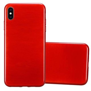 Cadorabo Hülle für Apple iPhone XS MAX in ROT -...