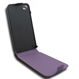 Cadorabo Case works with Apple iPhone 4 / iPhone 4S in LILAC VIOLET - Flip Style Case made of Smooth Faux Leather - Wallet Etui Cover Pouch PU Leather Flip