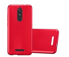 Cadorabo Case works with WIKO VIEW in METALLIC RED...